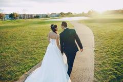 美妙的婚礼之日 免版税库存照片