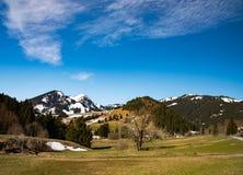 美妙的山风景在巴伐利亚 免版税库存照片