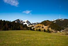 美妙的山风景在巴伐利亚 图库摄影