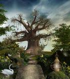 美妙的庭院 库存照片