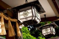 美妙的日本人的传统灯笼 库存照片