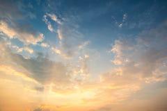 美妙的日落天空 库存图片
