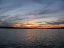 美妙的日落 免版税图库摄影