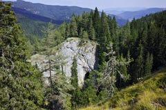 美妙的桥梁和惊人的全景Rhodopes山的,保加利亚 免版税库存图片