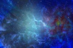 美妙的横向 在星系的边缘 库存照片
