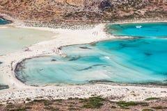 美妙的海盐水湖用清楚的绿松石水 图库摄影
