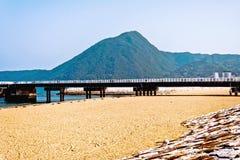 美妙的海边视图在别府日本 库存照片