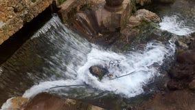 美妙的瀑布在舍夫沙万,位于在摩洛哥北部 免版税库存照片