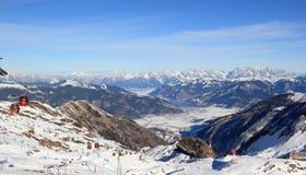 美妙的看法– Kitzsteinhorn山滑雪区域,奥地利。 免版税库存图片