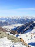 美妙的看法– Kitzsteinhorn山滑雪区域,奥地利。 图库摄影