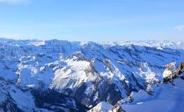 美妙的看法– Kitzsteinhorn山滑雪区域,奥地利。 库存照片