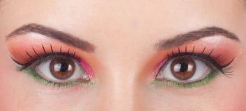 美妙的眼睛组成 免版税库存照片