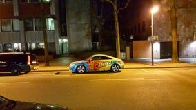 美妙的色的汽车在多特蒙德德国 库存图片