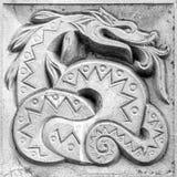 美妙的蛇,浅浮雕 库存图片