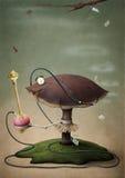 美妙的水烟筒蘑菇 库存图片