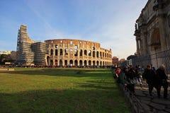 美妙的Colloseum在罗马 免版税库存图片
