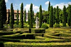 美妙的Giusti庭院 免版税库存图片