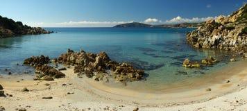 美妙西部海岸撒丁岛南的视图 库存照片