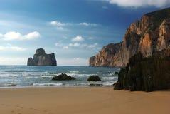 美妙西部海岸撒丁岛的视图 免版税库存图片