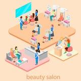 美容院同质异构的内部  免版税图库摄影