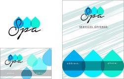 美容院现代商标,名片,飞行物 向量例证