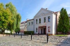 美容院金线在三位一体郊区,米斯克,白俄罗斯 免版税库存照片