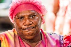 美拉尼西亚妇女画象  免版税图库摄影
