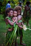 美拉尼西亚孩子 库存照片