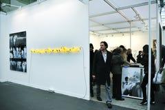 美术画廊人访问 免版税库存照片