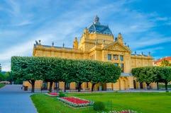 美术画廊大厦在萨格勒布 免版税库存图片