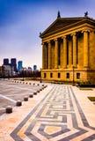 美术馆和地平线在费城,宾夕法尼亚 免版税图库摄影