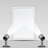 美术画廊和聚光灯 库存照片