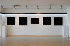 美术画廊墙壁 库存照片