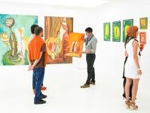 美术画廊拍卖 免版税库存照片