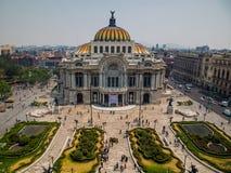 美术CDMX帕拉西奥de贝拉斯阿特斯宫殿  图库摄影