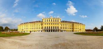 美泉宫全景在维也纳 库存照片