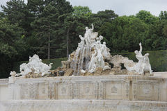 美泉宫喷泉 免版税库存图片