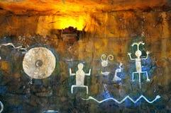 美洲印第安人壁画 免版税库存照片