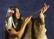 美洲印第安人女孩 免版税库存照片