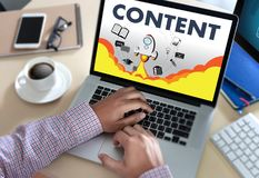 美满的营销数据Blogging媒介出版物信息vi 免版税库存图片