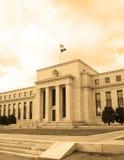 美联储的总部在华盛顿特区,美国,联邦机关, cyanotype 库存照片
