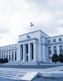 美联储的总部在华盛顿特区,美国,联邦机关, cyanotype 图库摄影