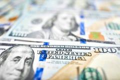100美金背景  金钱美国人一百美元双 免版税图库摄影