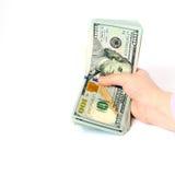 美钞保证金发薪日成功 库存图片