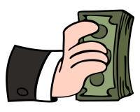 美钞保证金发薪日成功 库存例证