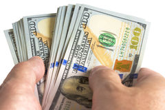 美钞保证金发薪日成功 免版税库存图片