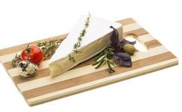 美食的咸味干乳酪干酪楔子  免版税库存照片