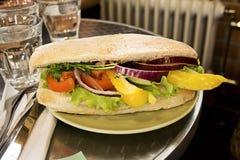 美食的意大利三明治 库存图片