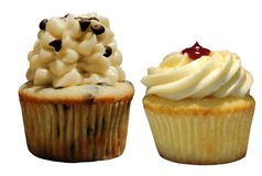 美食的杯形蛋糕 免版税库存照片