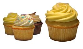 美食的杯形蛋糕 库存图片